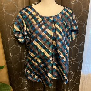Banana Republic Checkered Blouse NWT